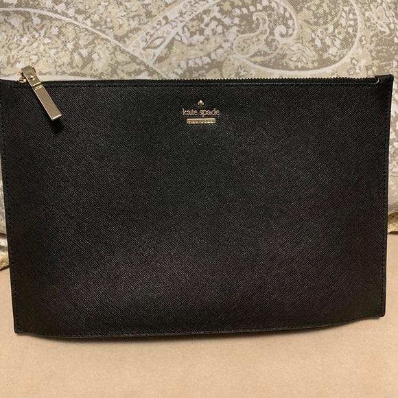 kate spade Handbags - Kate Spade ♠️ Large Black Clutch